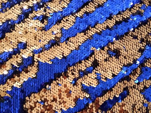 Mermaid Sequin Blue/Gold