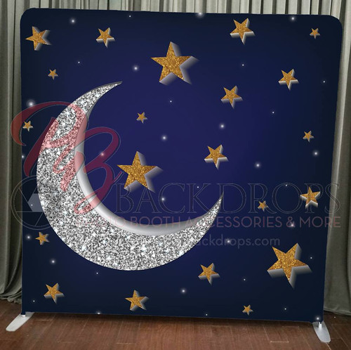 Single-sided Pillow Cover Backdrop  - Moon and Stars | PB Backdrops