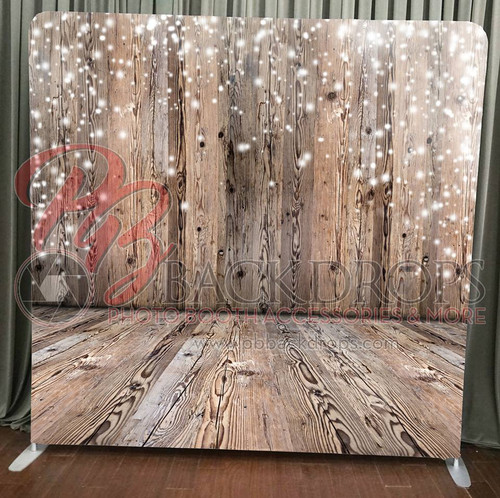 Single-sided Pillow Cover Backdrop  - Wood Wall-Floor Holiday | PB Backdrops