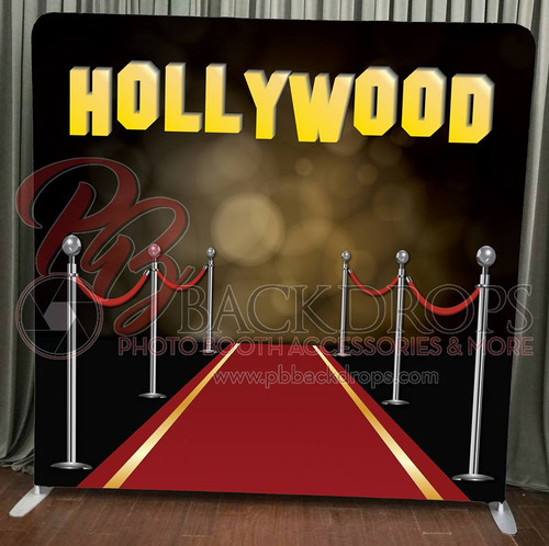 Single-sided Pillow Cover Backdrop  - Red Carpet Hollywood | PB Backdrops