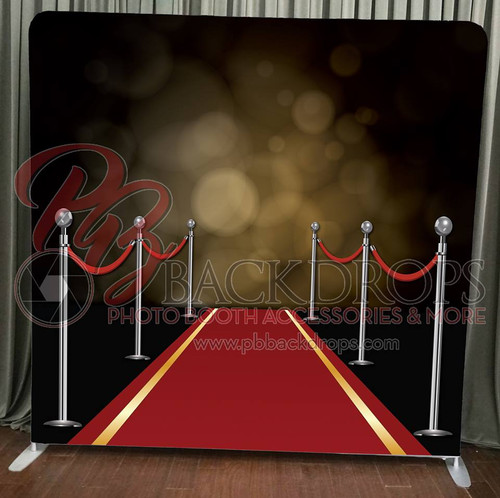 Single-sided Pillow Cover Backdrop  - Red Carpet | PB Backdrops