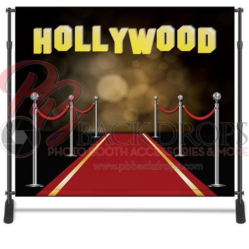 8x8 Printed Tension fabric backdrop - Red Carpet Hollywood | PB Backdrops