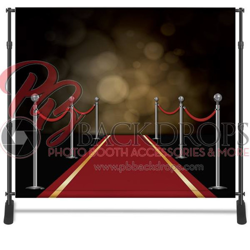 8x8 Printed Tension fabric backdrop - Red Carpet | PB Backdrops