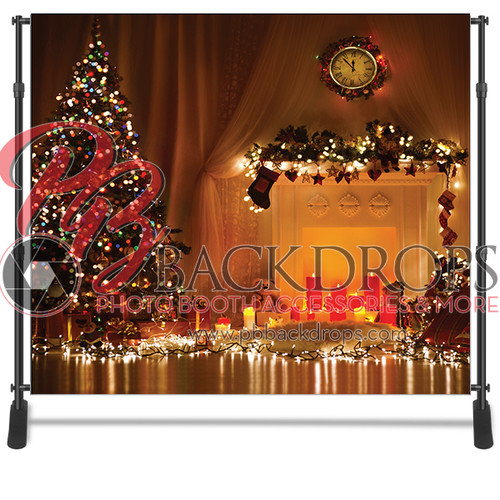 8x8 Printed Tension fabric backdrop - Christmas Lights | PB Backdrops