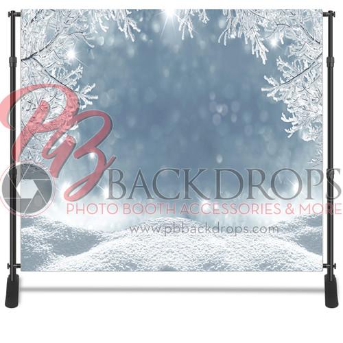 8x8 Printed Tension fabric backdrop - Winter Wonderland | PB Backdrops