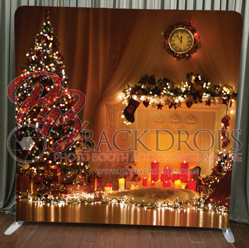 Single-sided Pillow Cover Backdrop  -  Christmas Lights | PB Backdrops