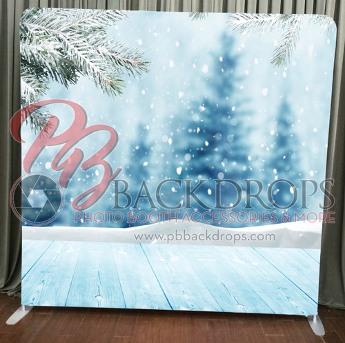 Single-sided Pillow Cover Backdrop  - Falling Snow | PB Backdrops