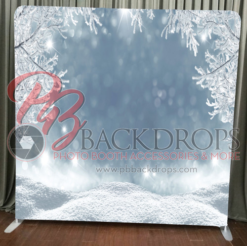 Single-sided Pillow Cover Backdrop  - Winter Wonderland | PB Backdrops