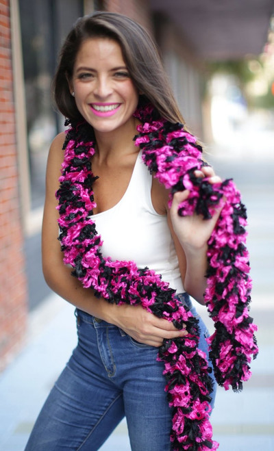 Original Featherless Boa - Black and Hot Pink | PB Backdrops