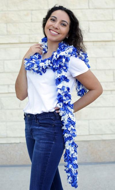 Original Featherless Boa - Blue and White | PB Backdrops
