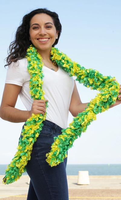 Original Featherless Boa - Green and Yellow | PB Backdrops