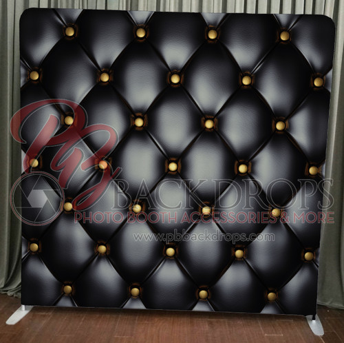 Single-sided Pillow Cover Backdrop  - Black Leather | PB Backdrops