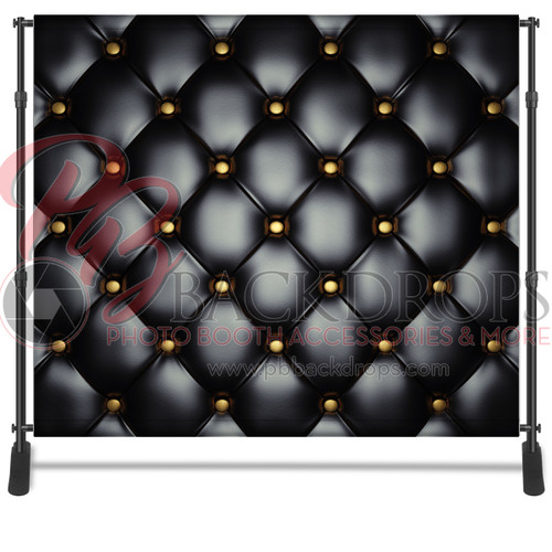 8x8 Printed Tension fabric backdrop - Black Leather | PB Backdrops