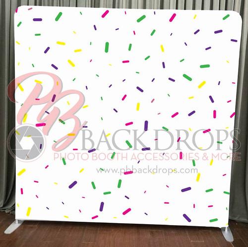 Single-sided Pillow Cover Backdrop  - Colorful Confetti | PB Backdrops