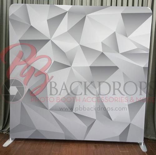 Single-sided Pillow Cover Backdrop  - Grey Geometric | PB Backdrops