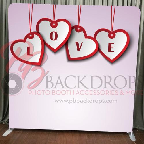 Single-sided Pillow Cover Backdrop  - Love Hearts | PB Backdrops