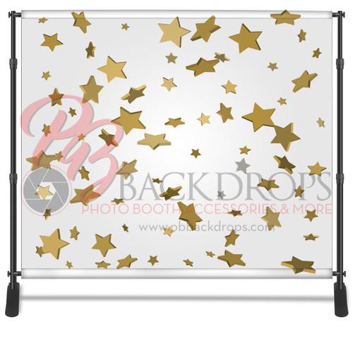 8x8 Printed Tension fabric backdrop - Confetti Stars   PB Backdrops