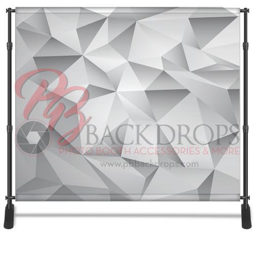 8x8 Printed Tension fabric backdrop - Grey Geometric | PB Backdrops