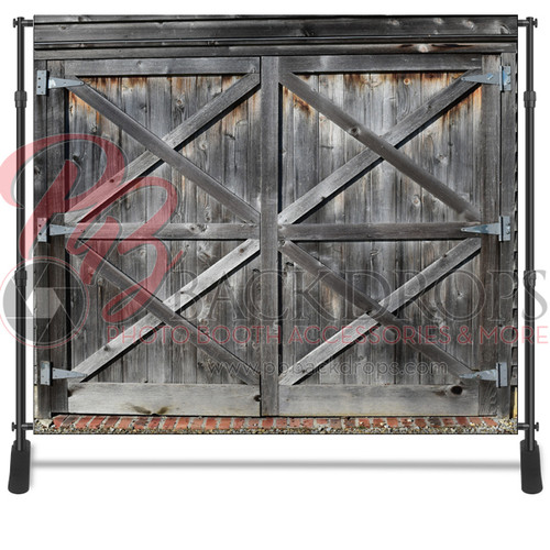 8x8 Printed Tension fabric backdrop - Barn Door | PB Backdrops