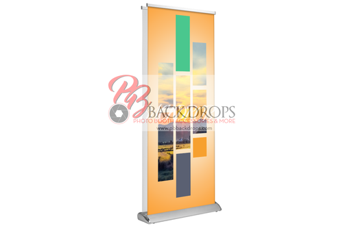 "Custom Deluxe Retractable - Double-sided 33"" x 81"""