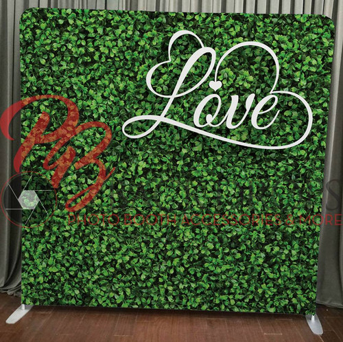 Single-sided Pillow Cover Backdrop  - Hedge with Love | PB Backdrops