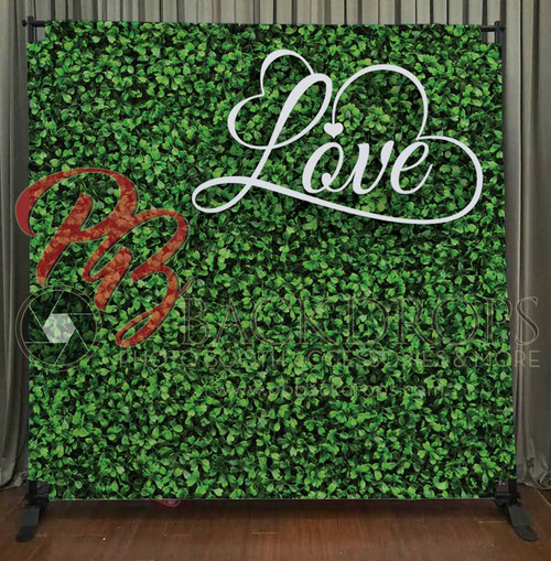 8x8 Printed Tension fabric backdrop - Hedge with Love | PB Backdrops