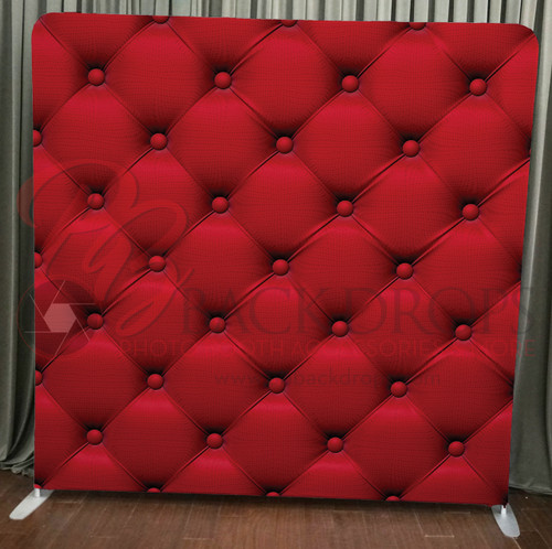 Single-sided Pillow Cover Backdrop  - Red Suede | PB Backdrops