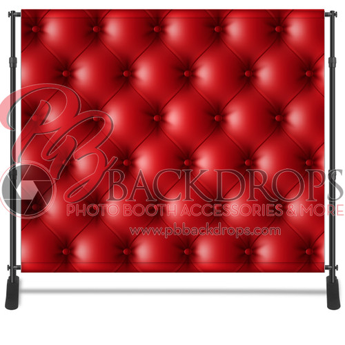 8x8 Printed Tension fabric backdrop - Red Leather   PB Backdrops