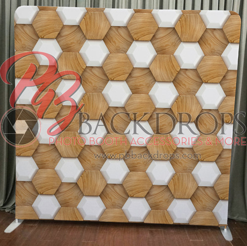 Single-sided Pillow Cover Backdrop  - wood 3d tiles | PB Backdrops