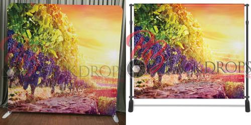 Single-sided Pillow Cover Backdrop  - Vineyard Sunset | PB Backdrops