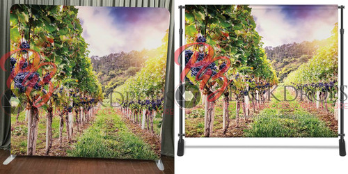 Single-sided Pillow Cover Backdrop  - Vineyard Stroll