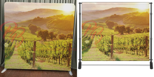 Single-sided Pillow Cover Backdrop  - Valley Vineyard | PB Backdrops