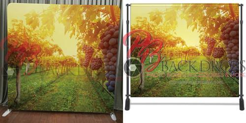Single-sided Pillow Cover Backdrop  - Glowing Vineyard | PB Backdrops