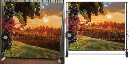 Single-sided Pillow Cover Backdrop  - Sunset Grapes | PB Backdrops