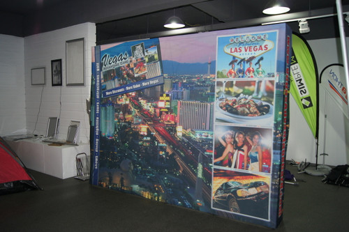 Straight Pop up Display 10ft with Printed Fabric
