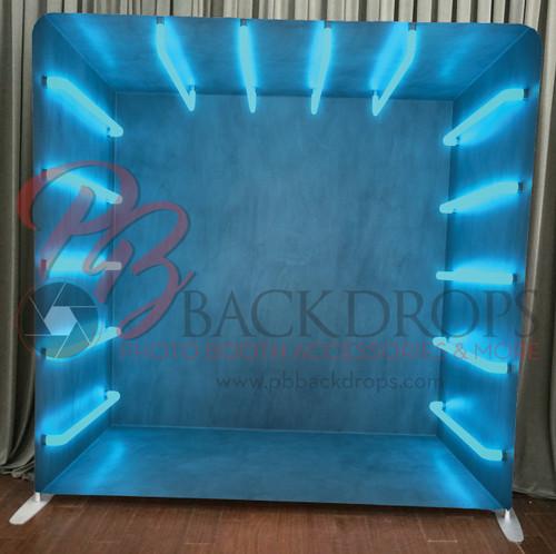 Single-sided Pillow Cover Backdrop  - Blue Lights | PB Backdrops
