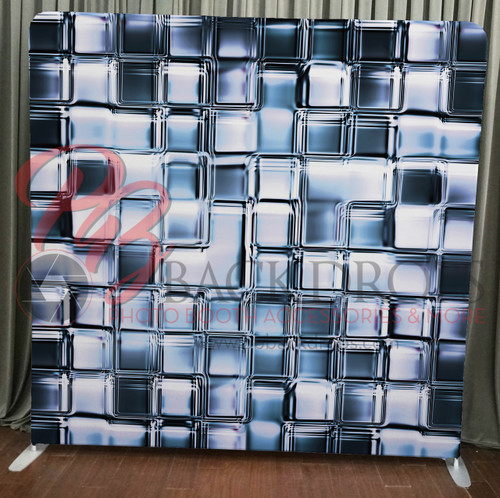 Single-sided Pillow Cover Backdrop  - Glass Cubes | PB Backdrops