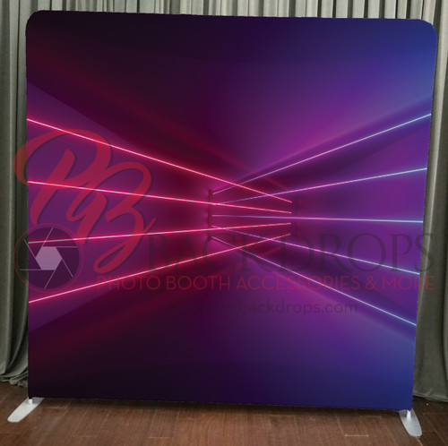 Single-sided Pillow Cover Backdrop  - Lasers | PB Backdrops