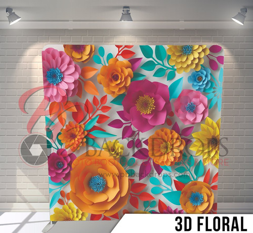Single-sided Pillow Cover Backdrop  (3D Floral)