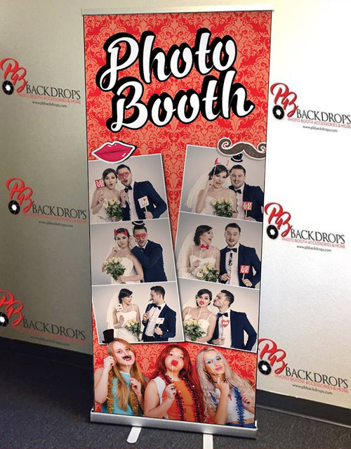 Photo Booth Retractable Banner