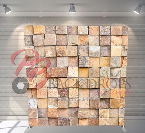 Single-sided Pillow Cover Backdrop  - 3d Rock Wall | PB Backdrops
