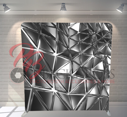 Single-sided Pillow Cover Backdrop  - Abstract Silver | PB Backdrops