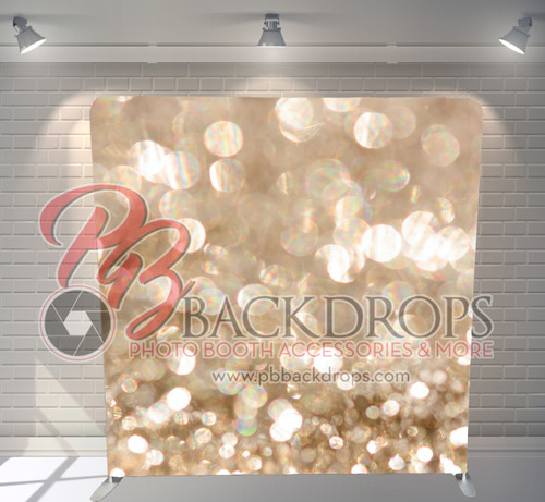 Single-sided Pillow Cover Backdrop  - Champagne Sparkle | PB Backdrops