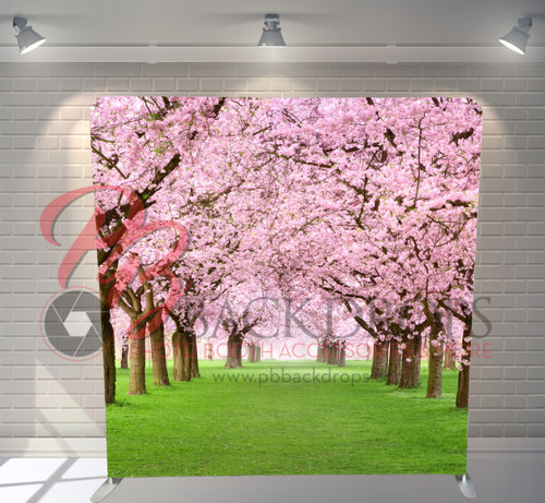 Single-sided Pillow Cover Backdrop  - Cherry Blossoms | PB Backdrops