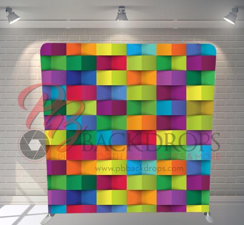 Single-sided Pillow Cover Backdrop  - Colorful Blocks   PB Backdrops