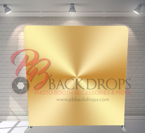 Single-sided Pillow Cover Backdrop  - Gold Metal | PB Backdrops