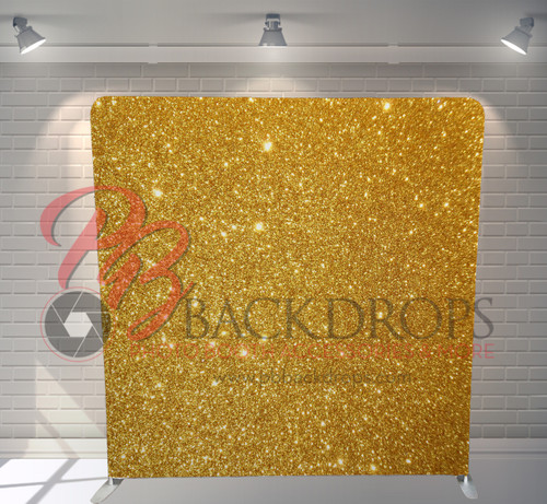 Single-sided Pillow Cover Backdrop  - Gold Sparkle | PB Backdrops