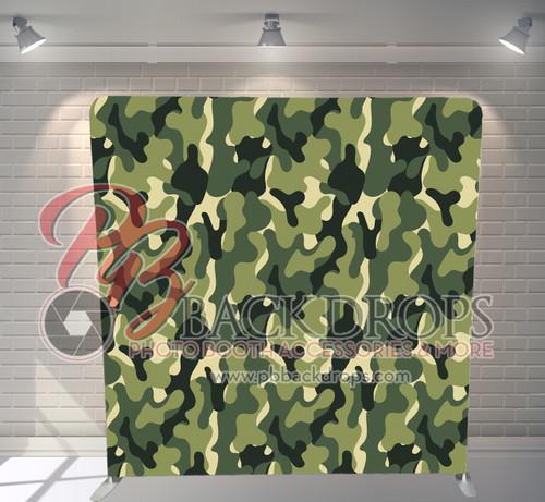 Single-sided Pillow Cover Backdrop  - Green Camo | PB Backdrops