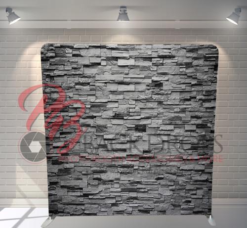 Single-sided Pillow Cover Backdrop  - Grey Rock Wall | PB Backdrops