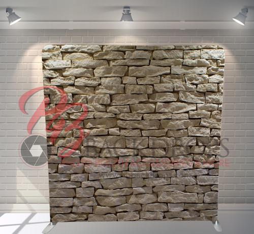 Single-sided Pillow Cover Backdrop  - Light Rock Wall | PB Backdrops